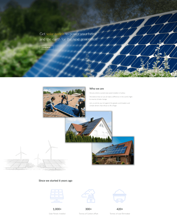 Hortus Energy home page redesign by Creative Nurds