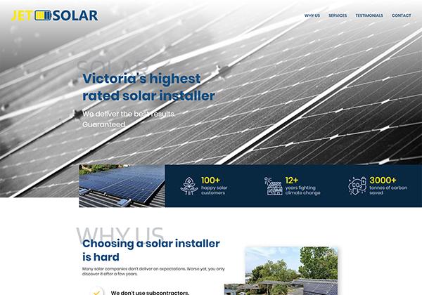 Case Study - JetSolar home page