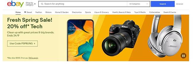 Ebay front page slider