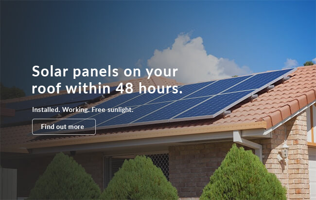 Solar panels on top of home with good headline