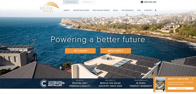 Soltek home page