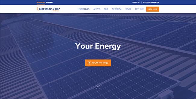 Gippsland Solar home page