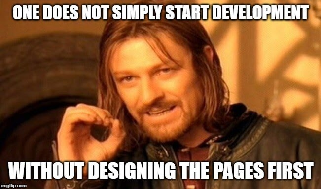 Web development meme