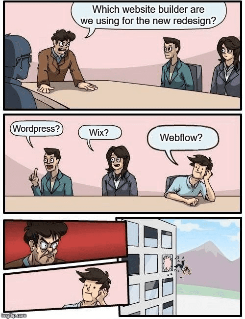 Suggesting Webflow meme
