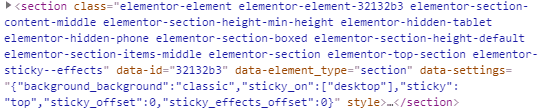 Elementor bad code