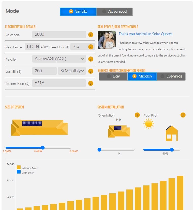 Solar Payback Calculator