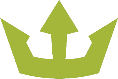 A green crown because content is king but community management is king.