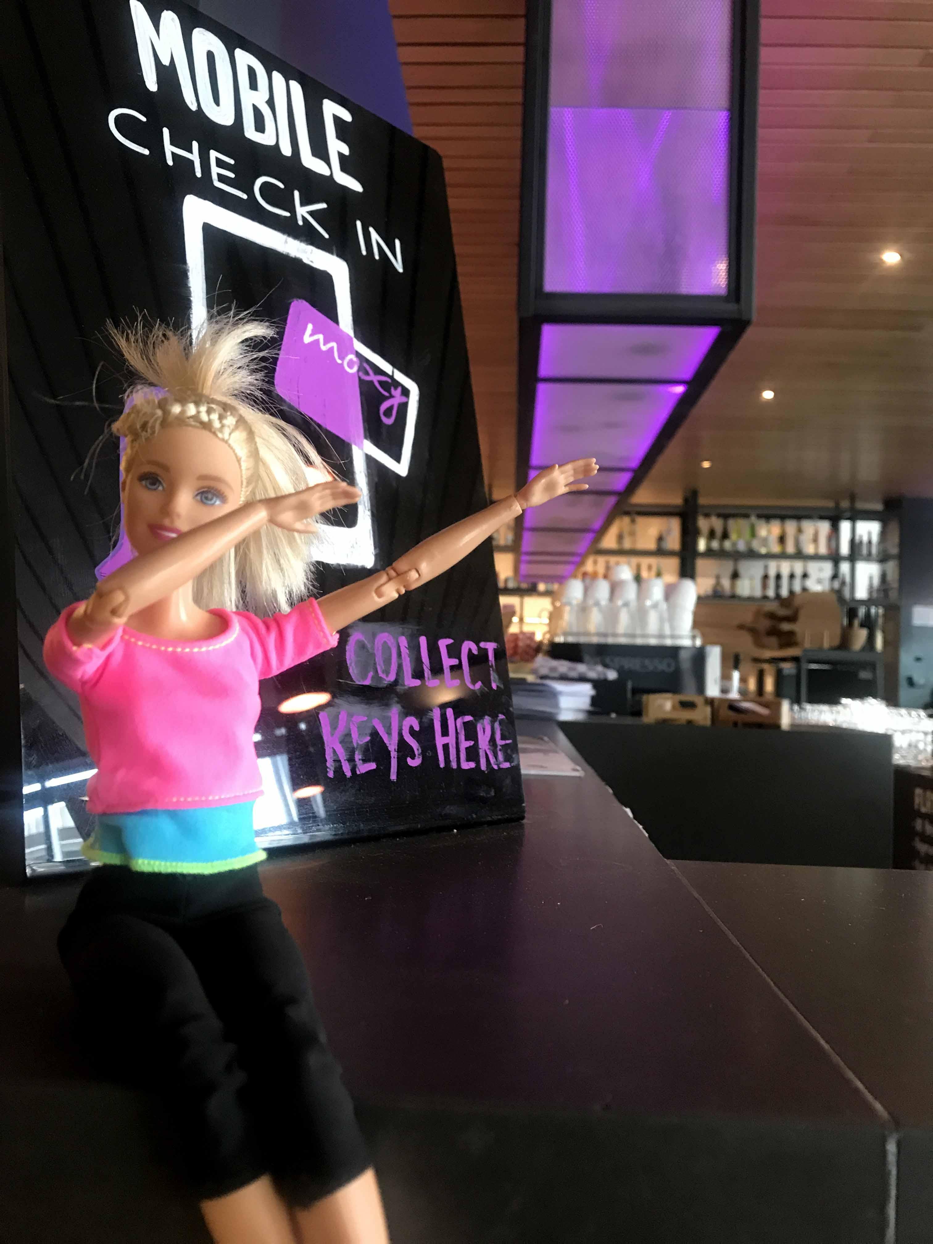 Barbie throwing a dab