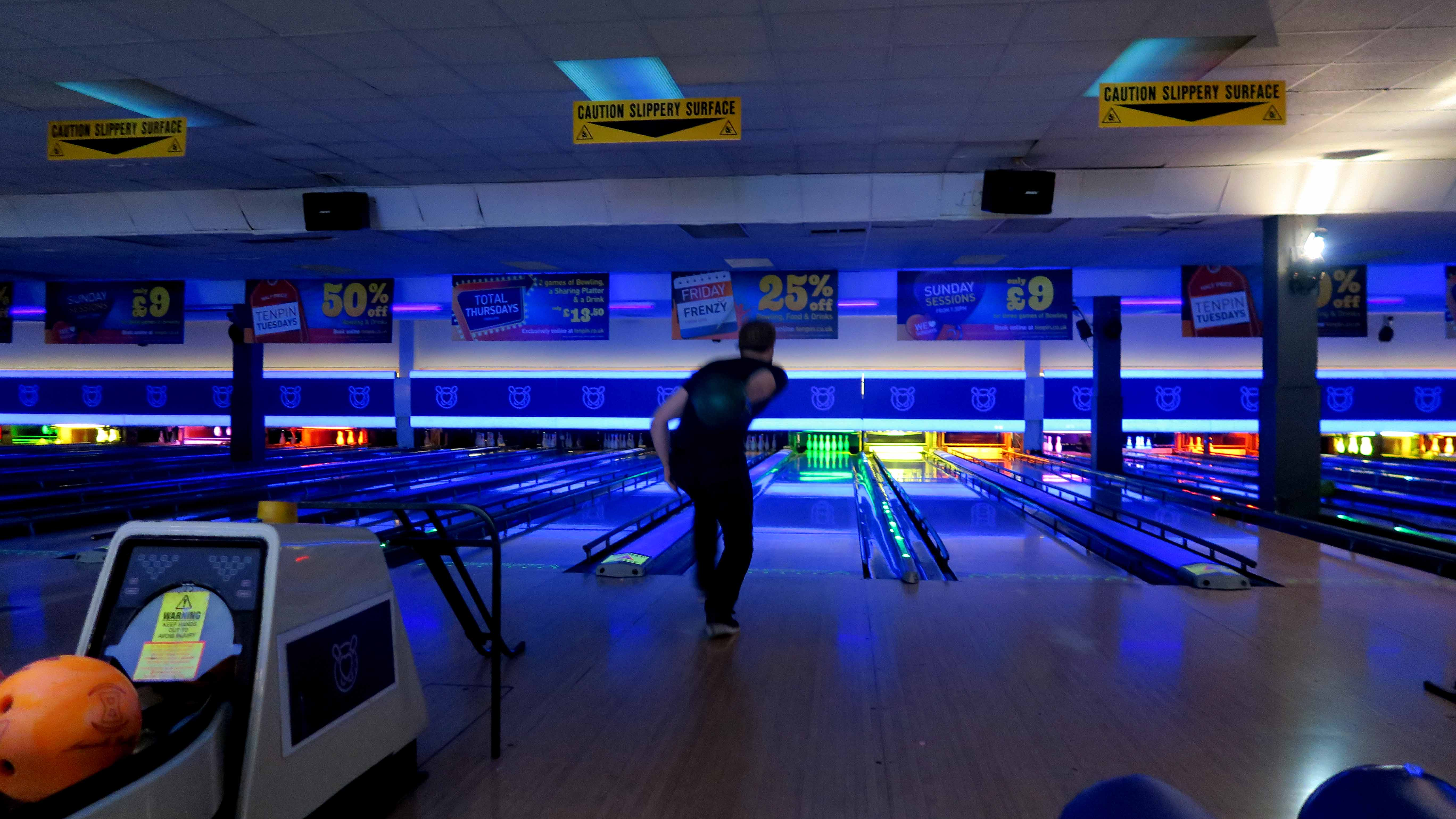 Bowling with Disobey, you'll only lose