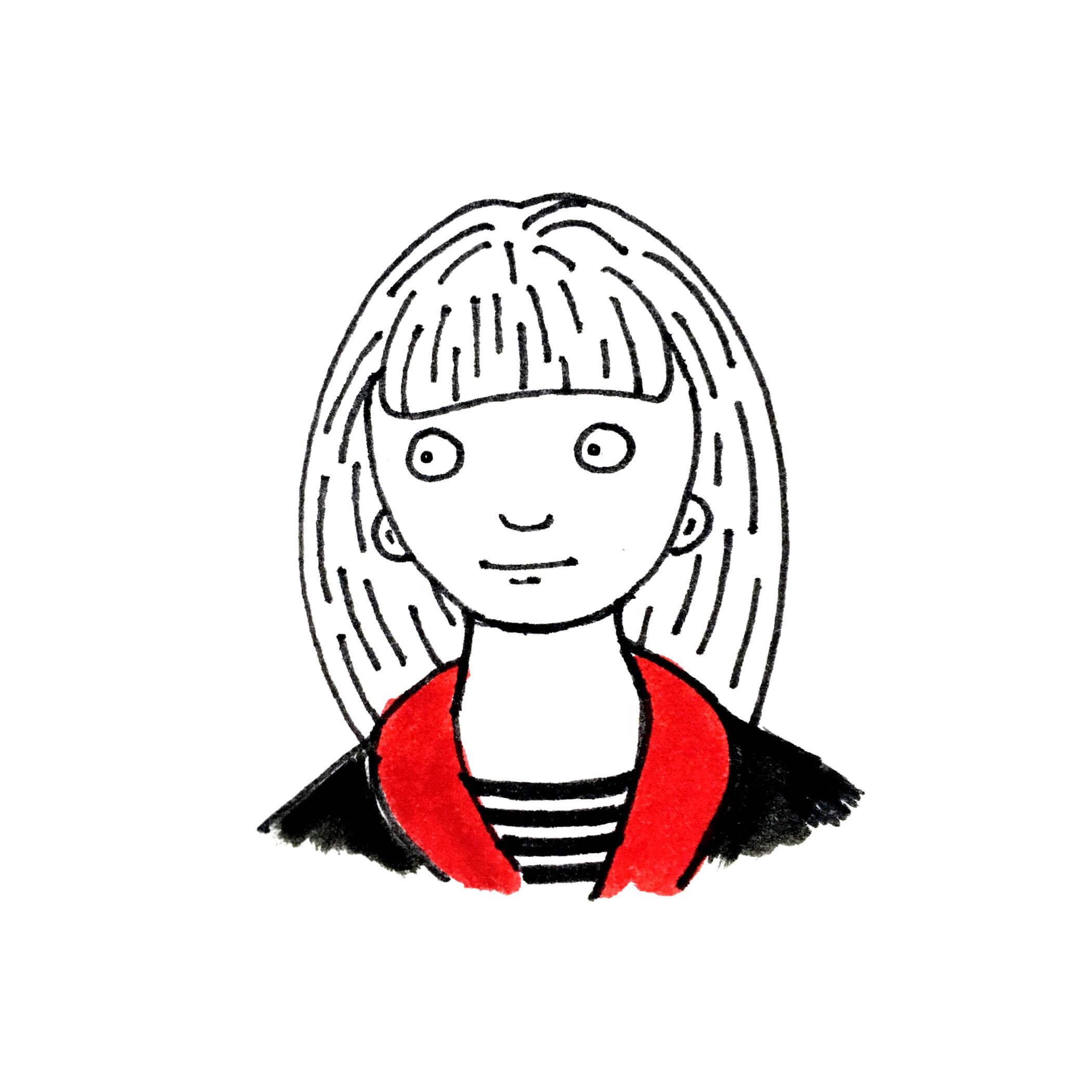 Drawing of Heidi Schuman