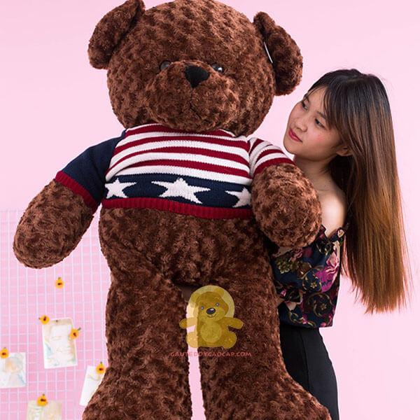 Gấu teddy 1m4 áo len sao