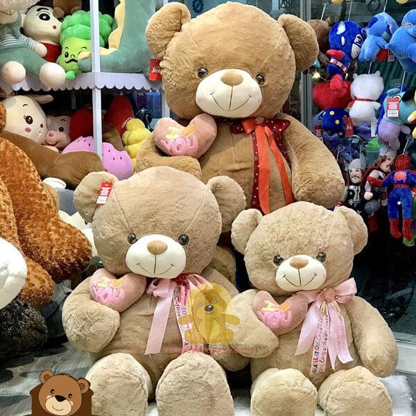 Gấu teddy 1m4 kích thước ấn tượng