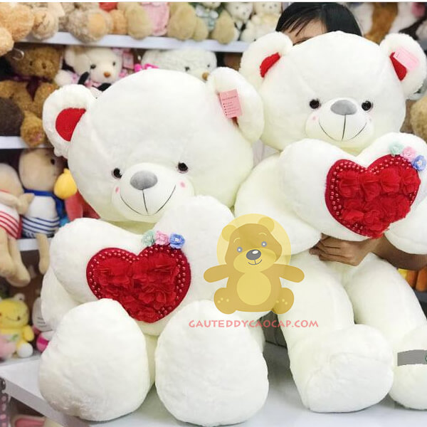 Gấu teddy 1m váy hoa