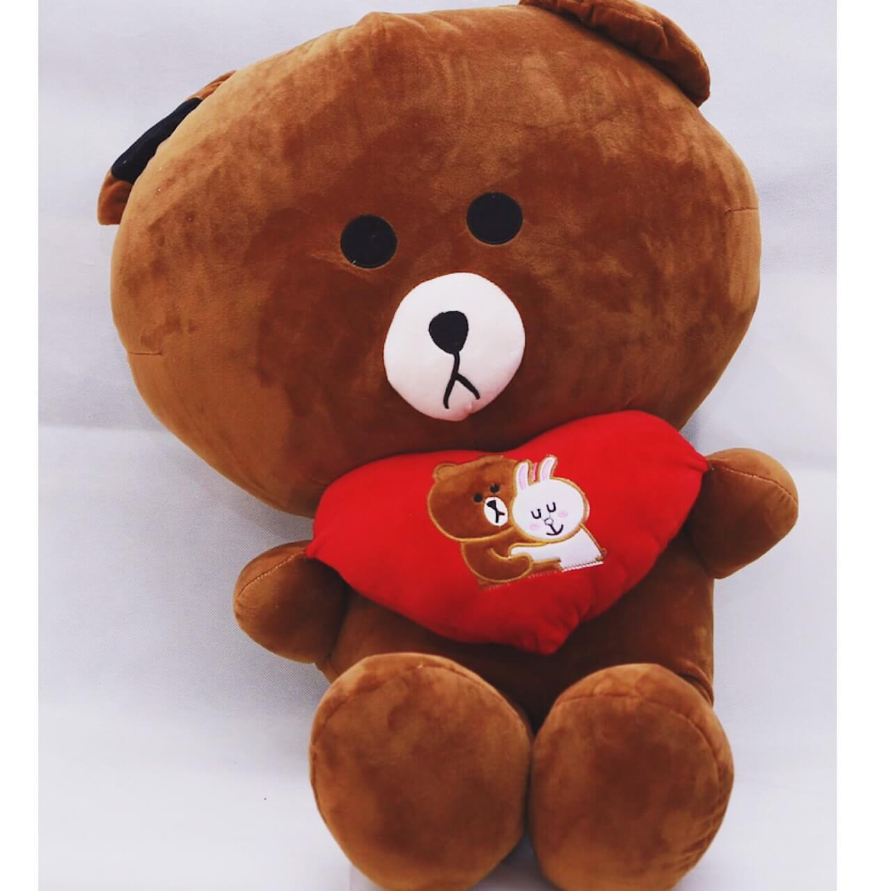 gấu brown 1m8 váy nâu