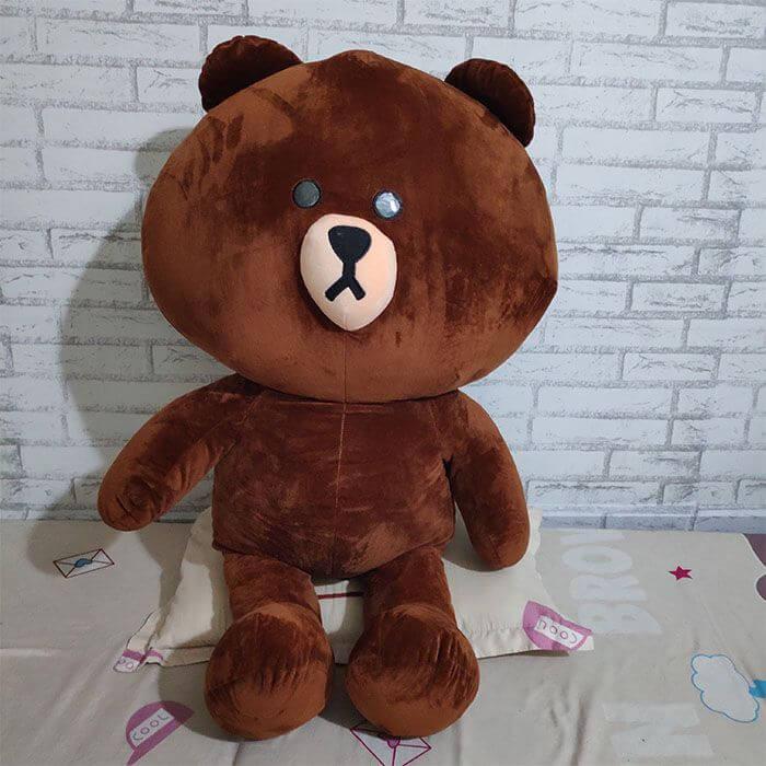 chất liệu gấu bông brown