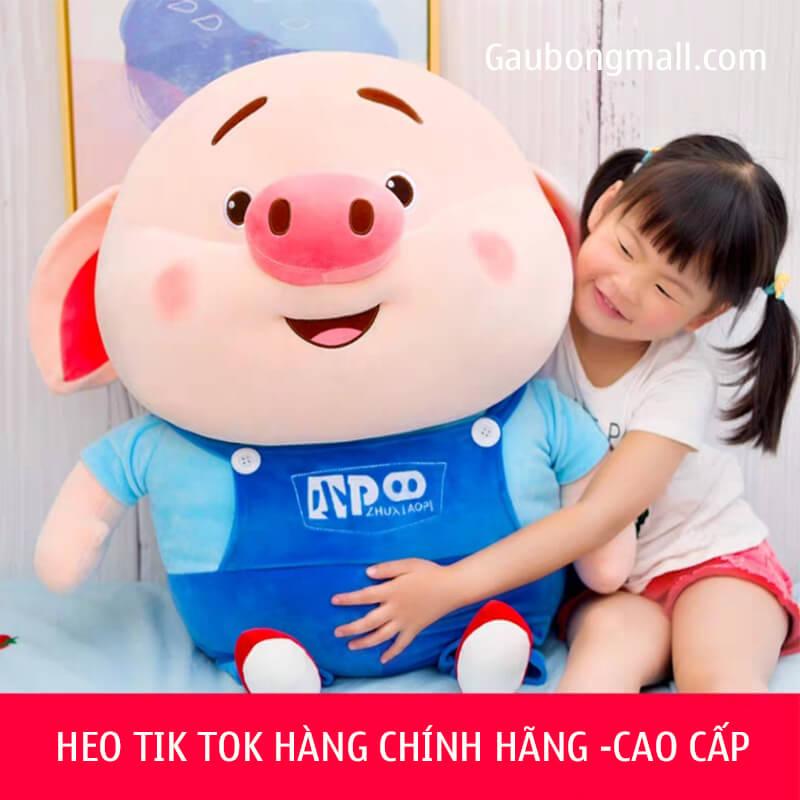 Heo Bông Tik Tok Yếm Xanh