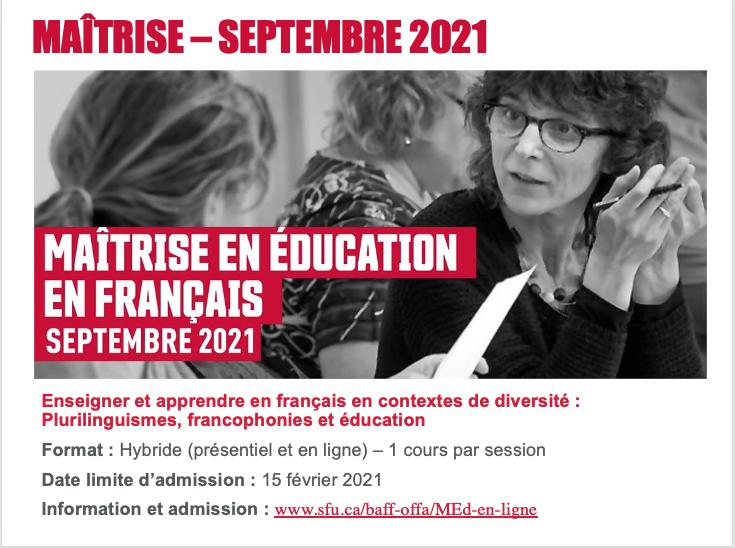Enseigner et apprendre en français en contextes de diversité :Plurilinguismes, francophonies et éducation
