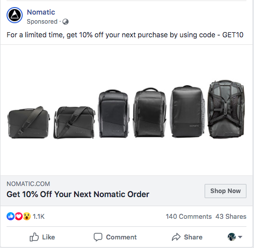 example of a facebook paid ad