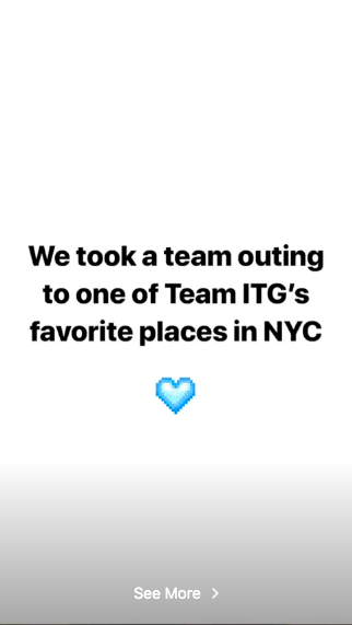 into the gloss employee IG story example