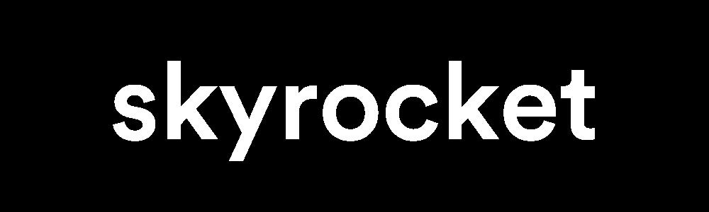 White skyrocket logo