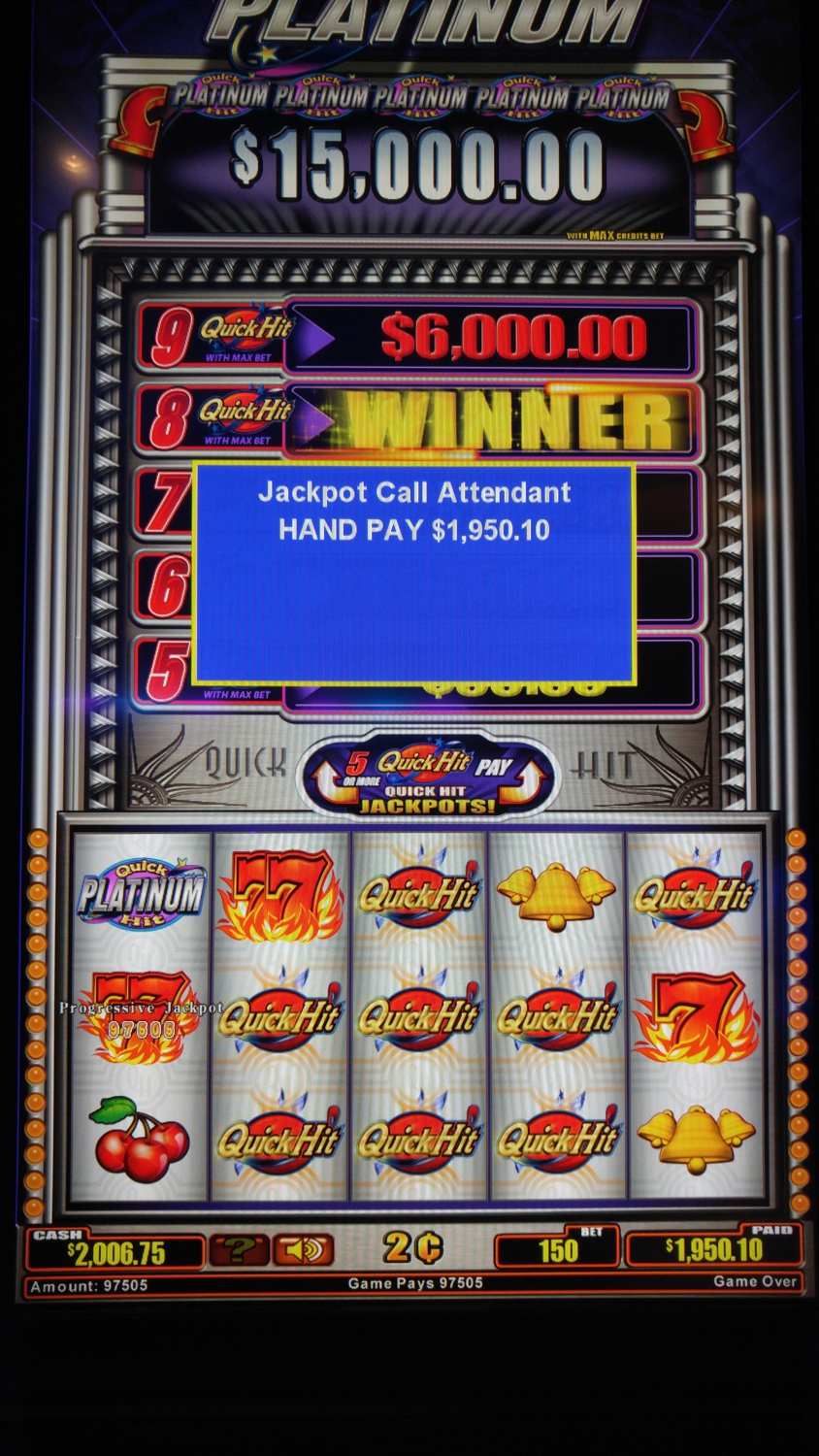 My jackpot on the first night.