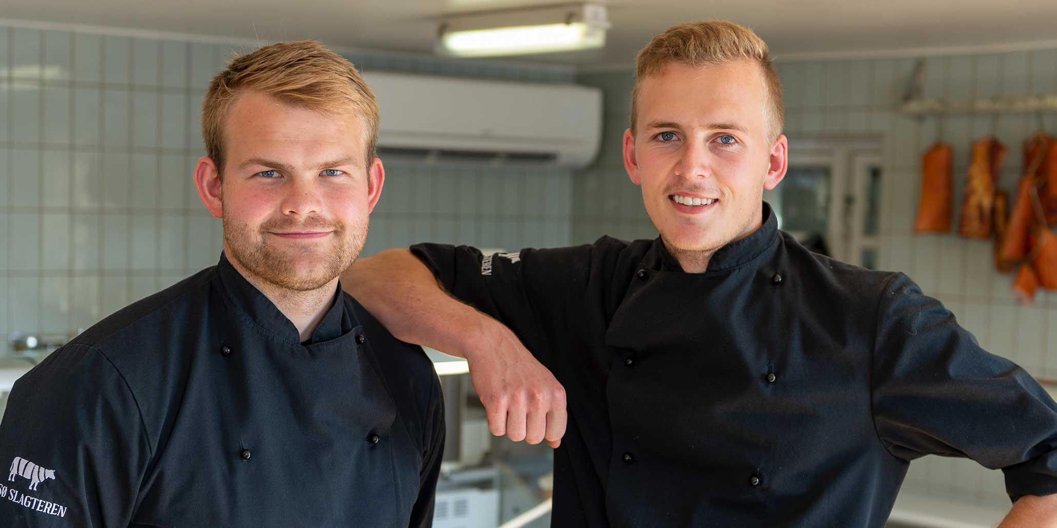 Billede af butikkens ejere Palle og Anders