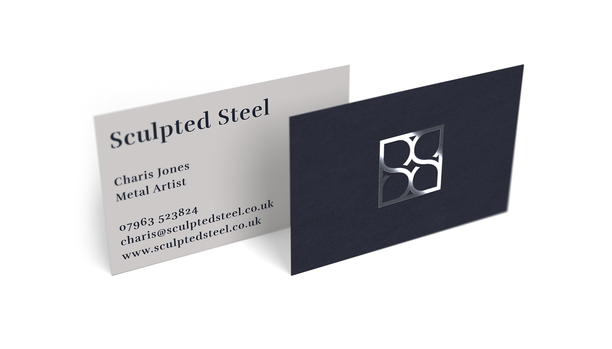 Sculpted Steel Business Cards