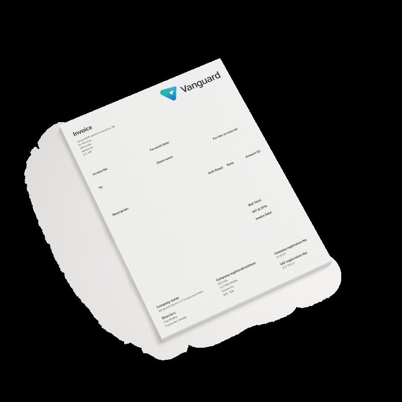 Vanguard invoice design