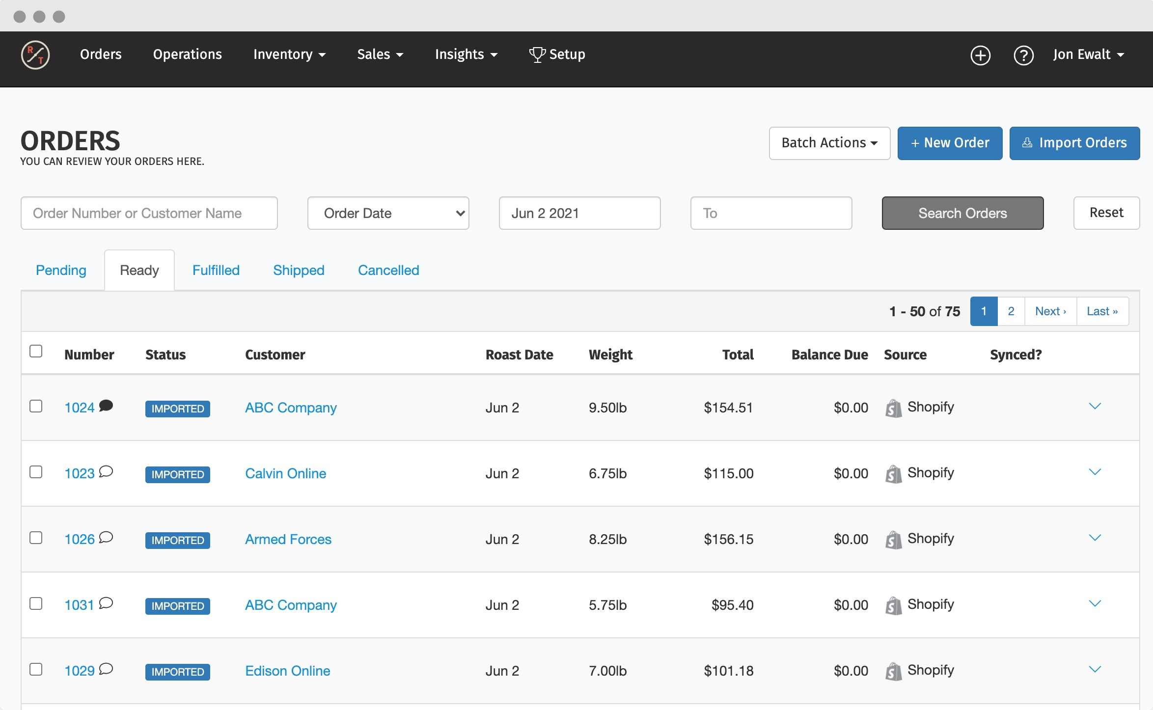 Import orders from multiple sales channels