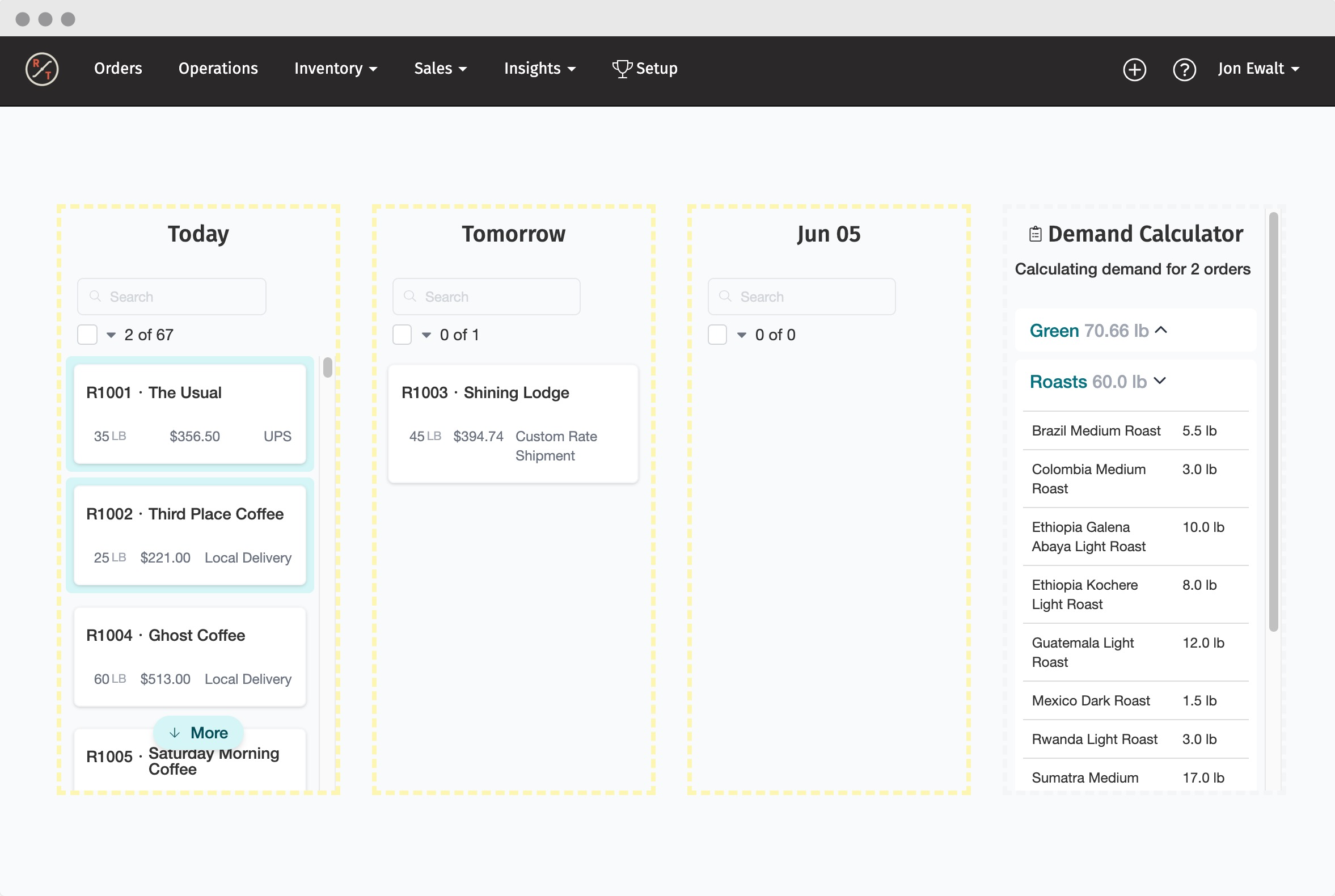 Schedule orders, and preview Demand with a few clicks