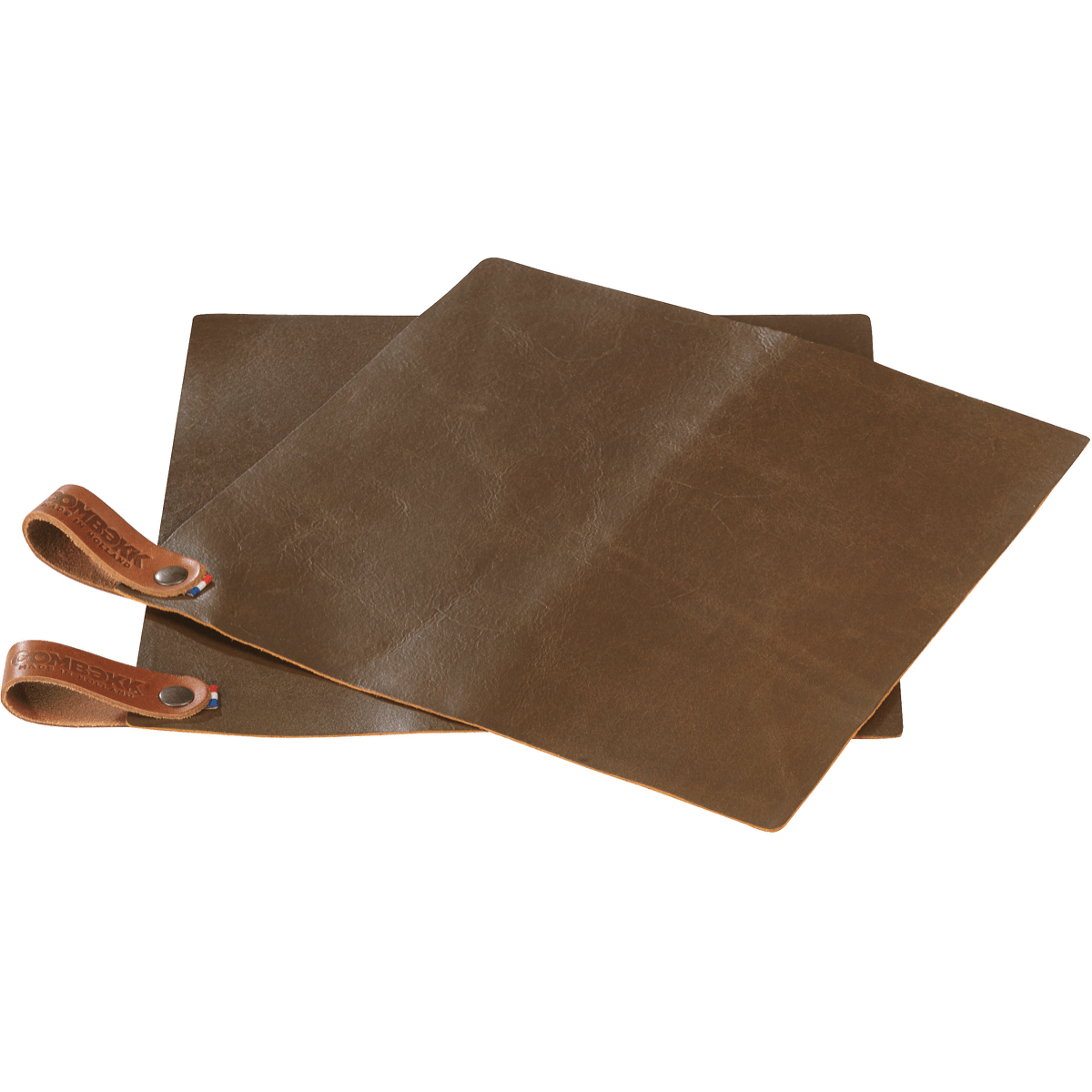 Pot Holder Leather - set of 2 Rust