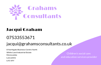 Business card for Grahams Consultants