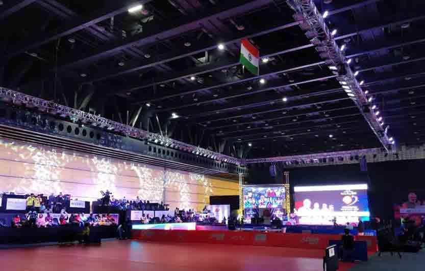Photo of indoor arena