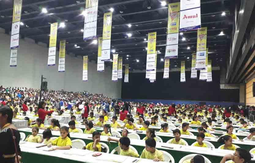 Photo of exam inside arena