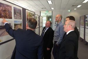 Pictured reviewing Canberra's City To Lake Display