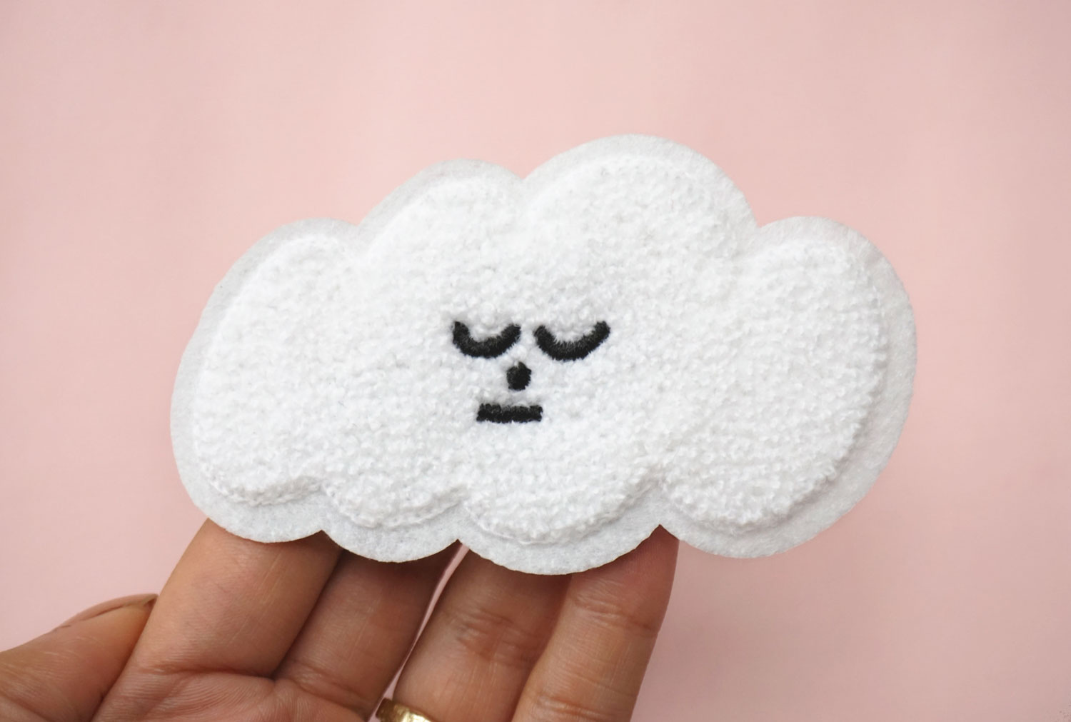 Cloud Chenille Patch
