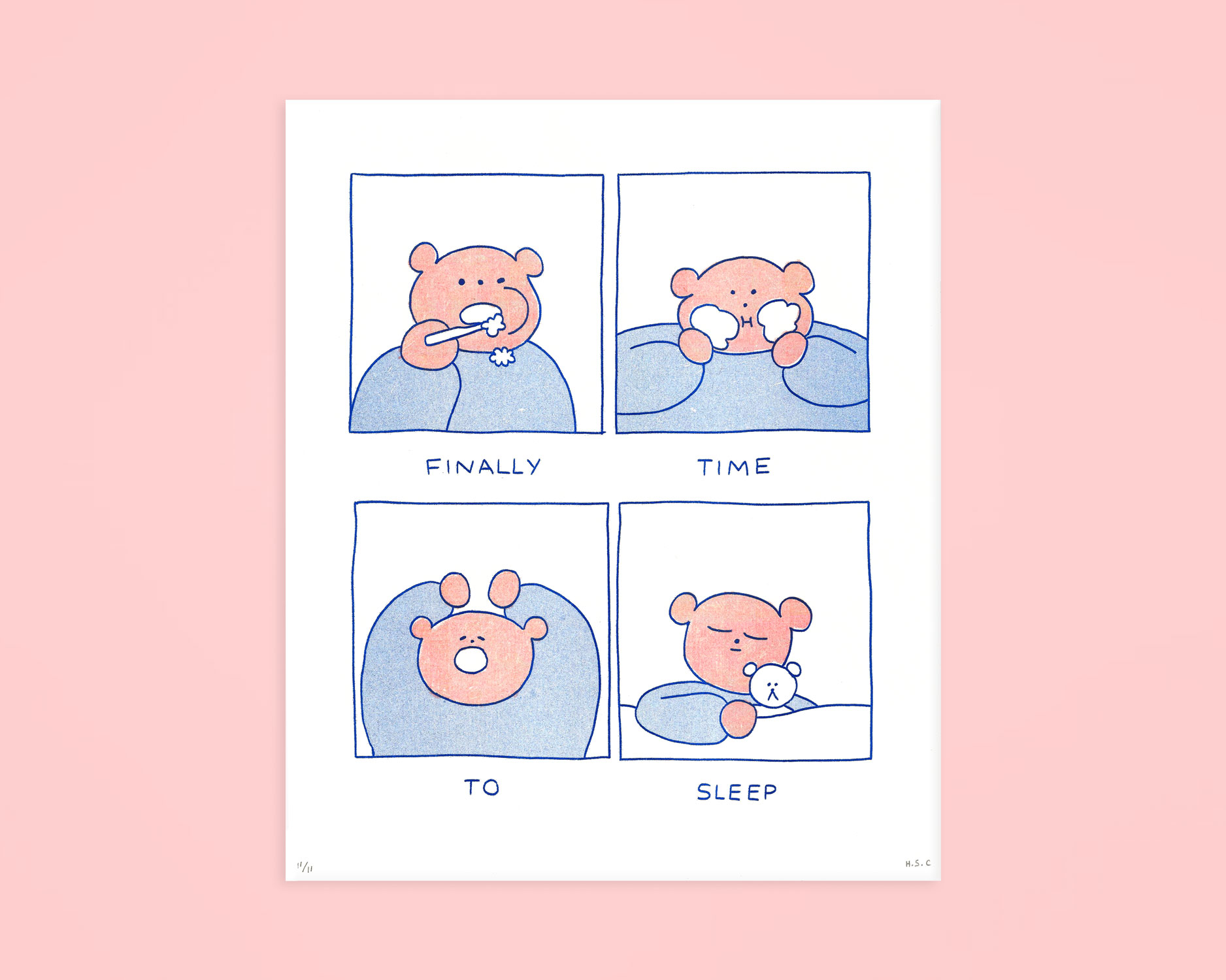 'Sleep Time' Risograph Print
