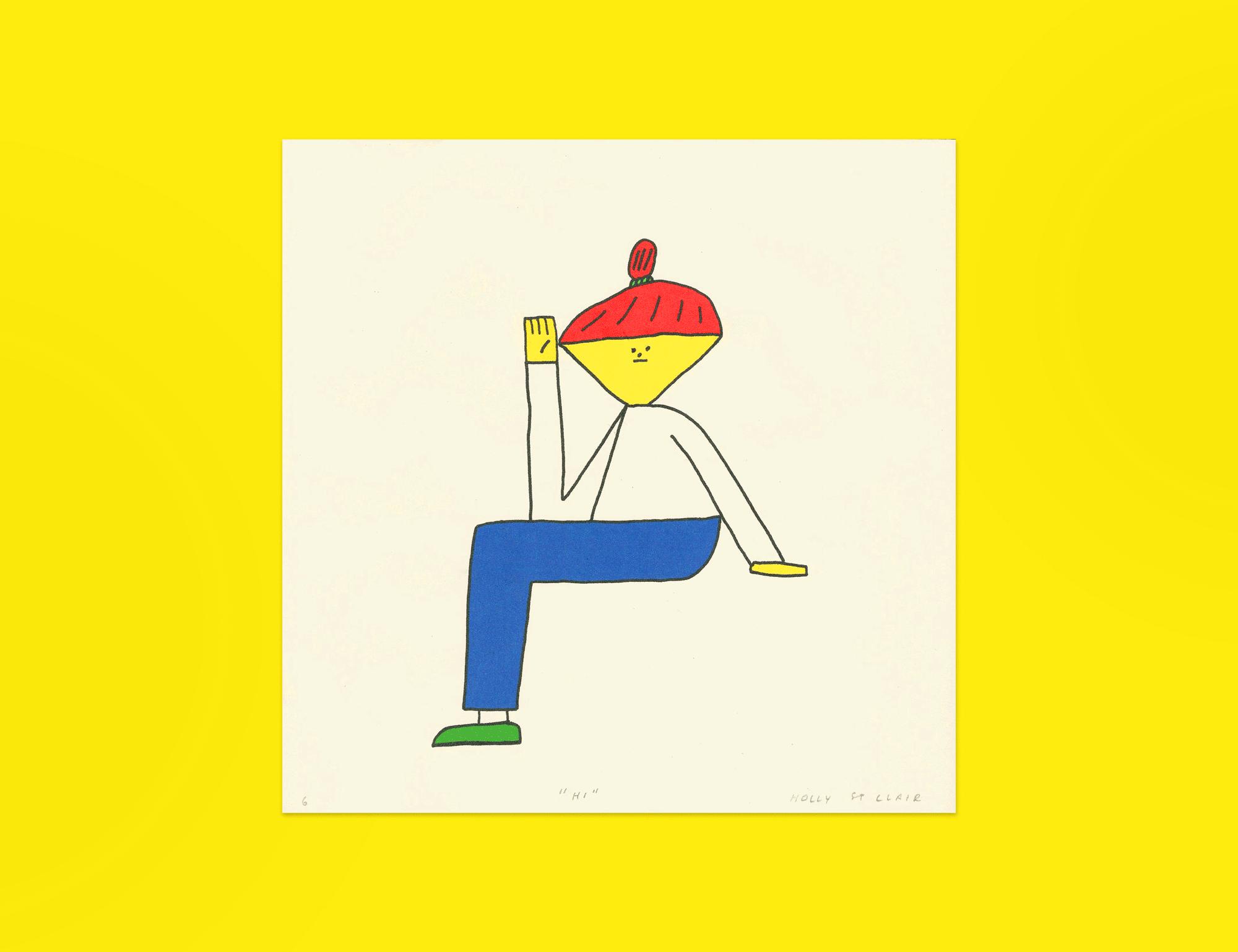 'Hi' Digital Print