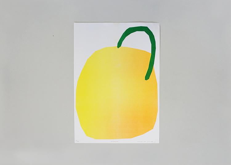 'Peach' Risograph Print