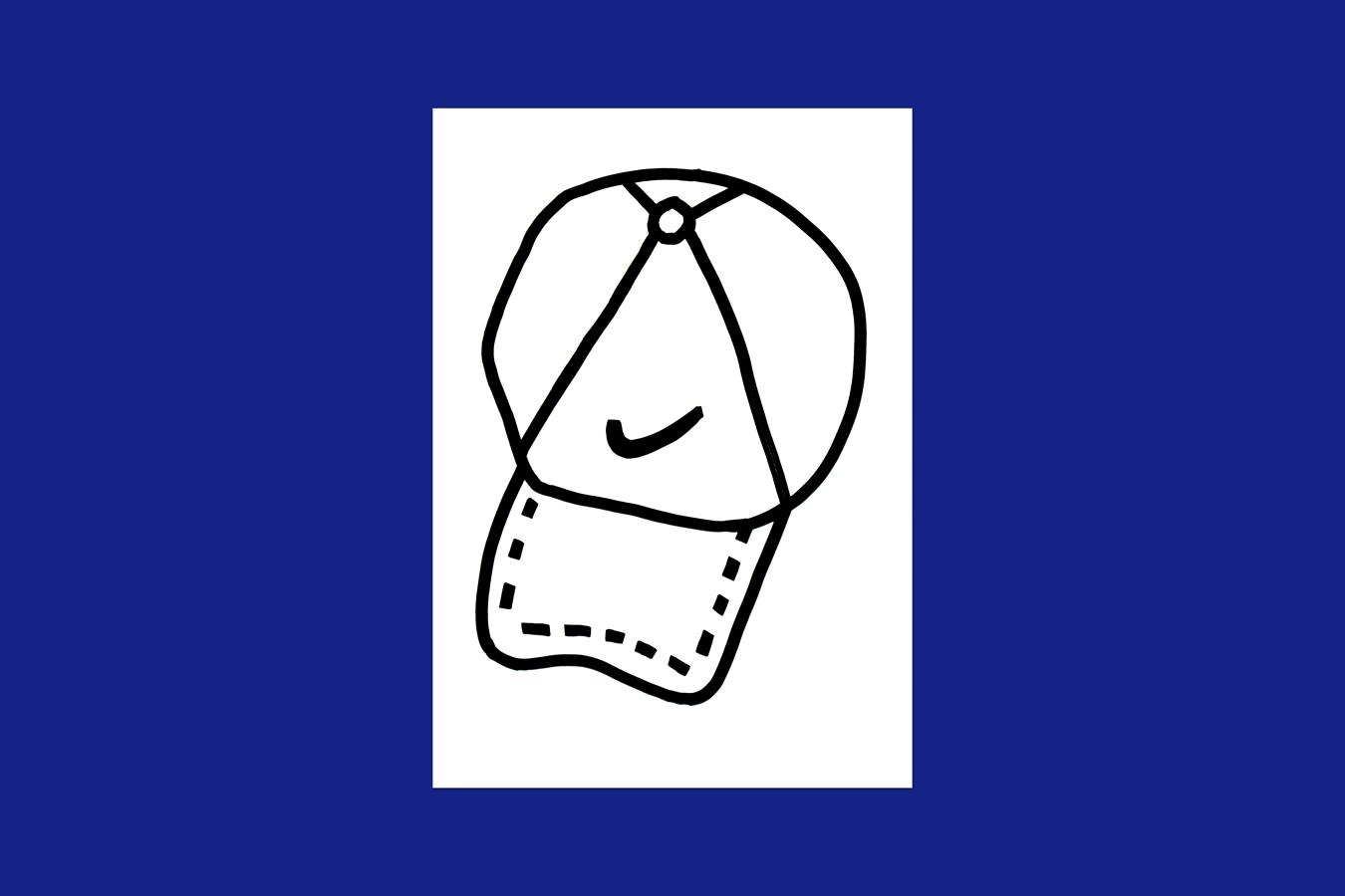 'Baseball Cap' Risograph Print