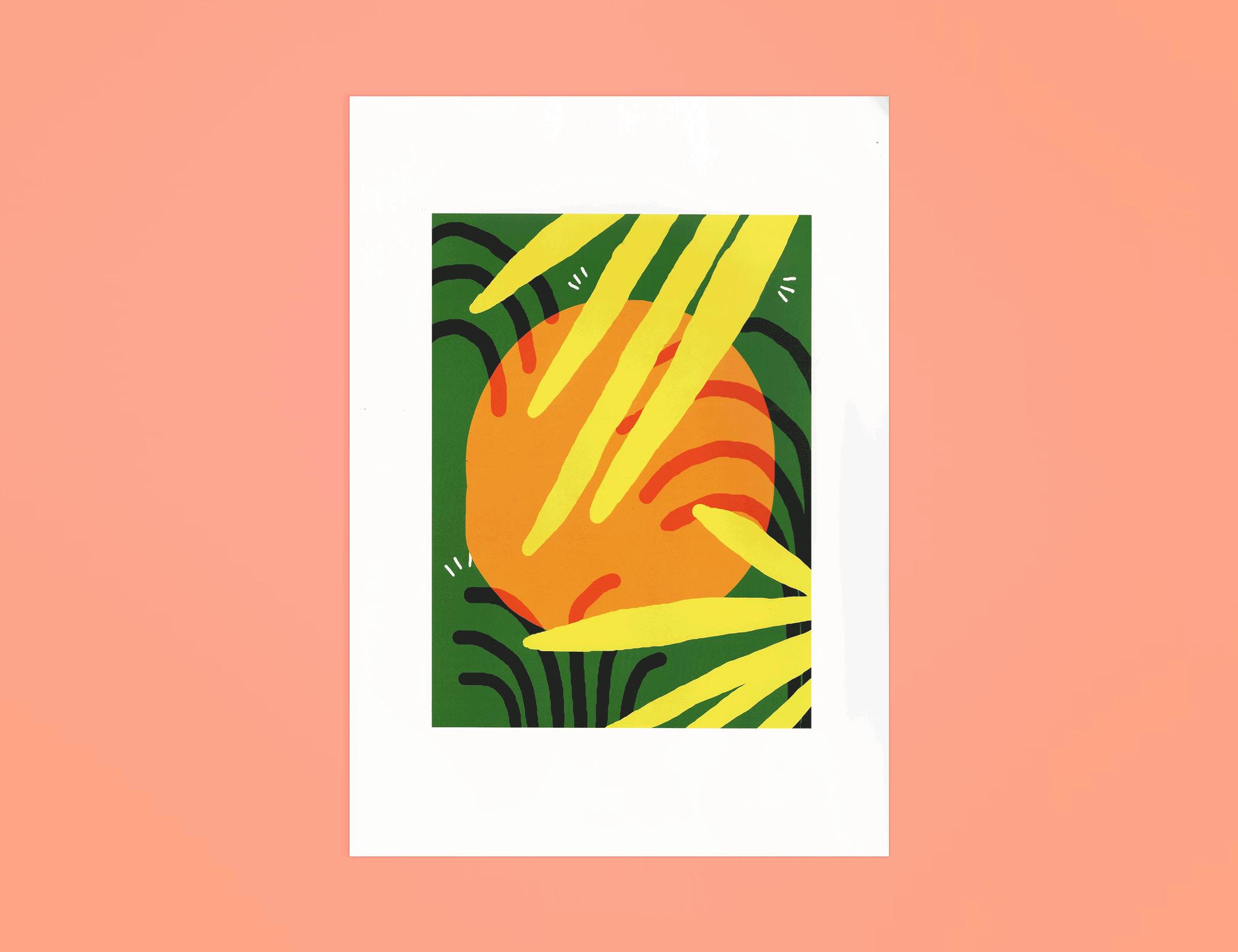 'Orange' Digital Print