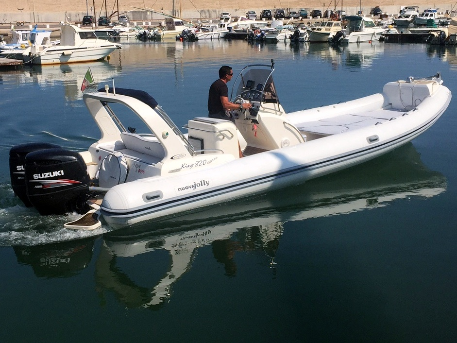 Rent a RIB powerboat KING 820 (Ref: nmk5)