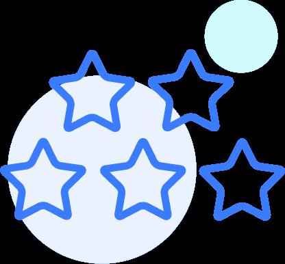 Five stars icon
