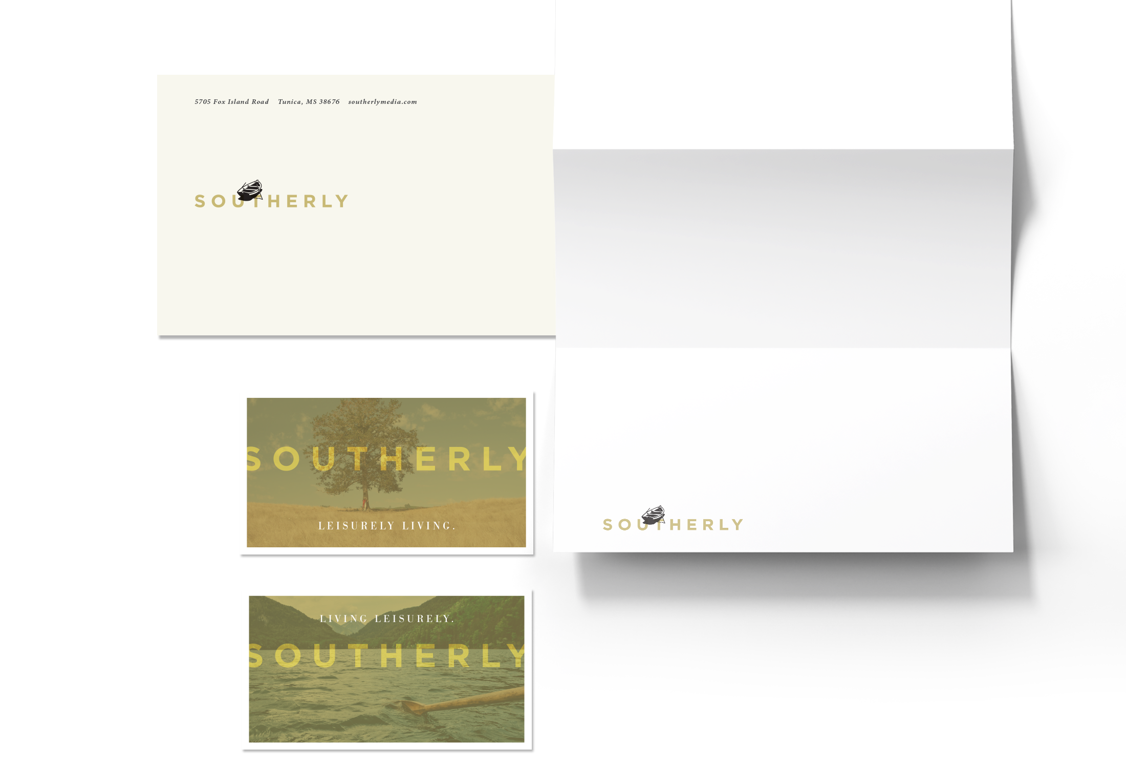 Southerly Media Stationery System  Letterhead Graphic Design | © Robertson Design