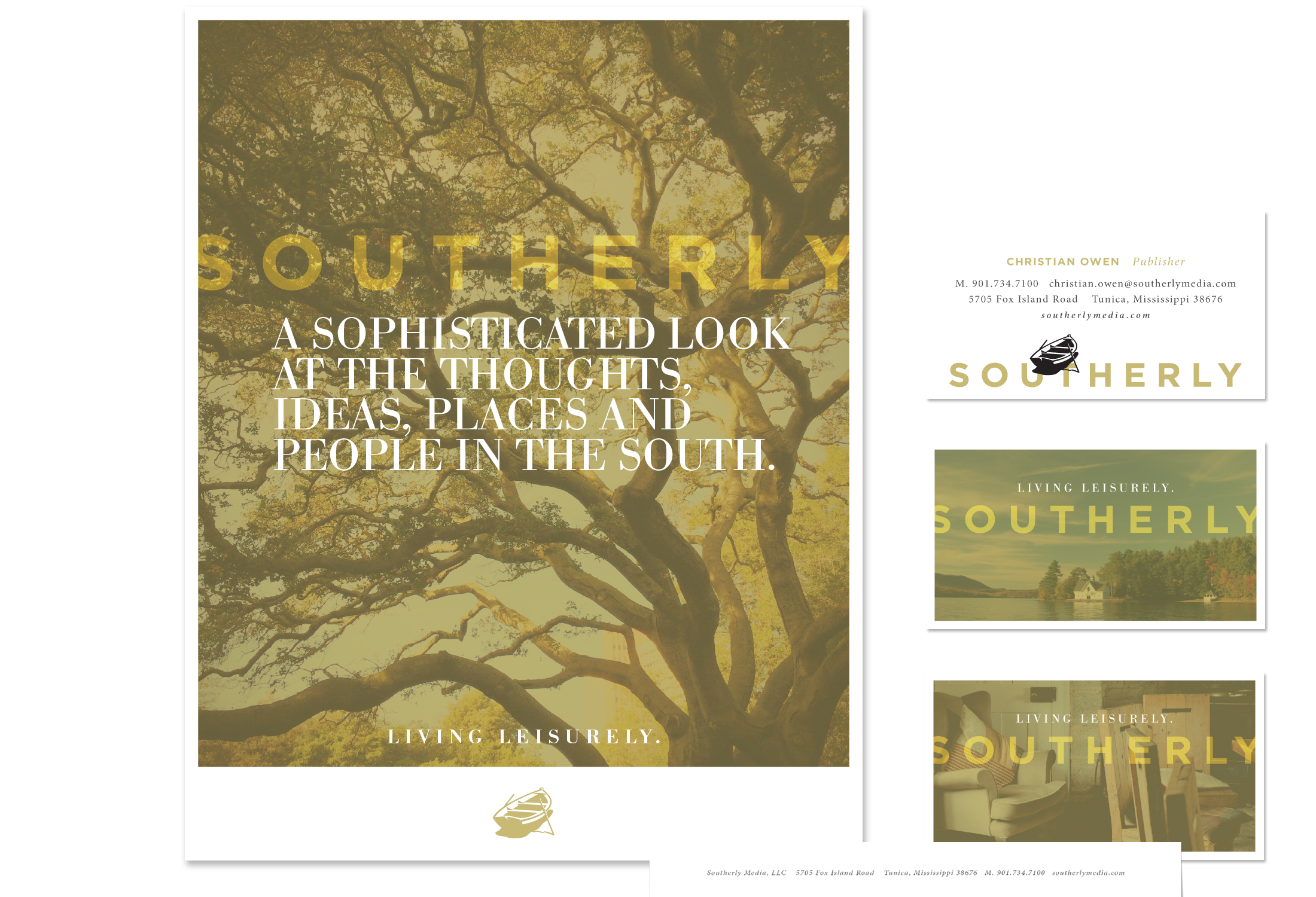 Southerly Media Stationery System Graphic Design | © Robertson Design