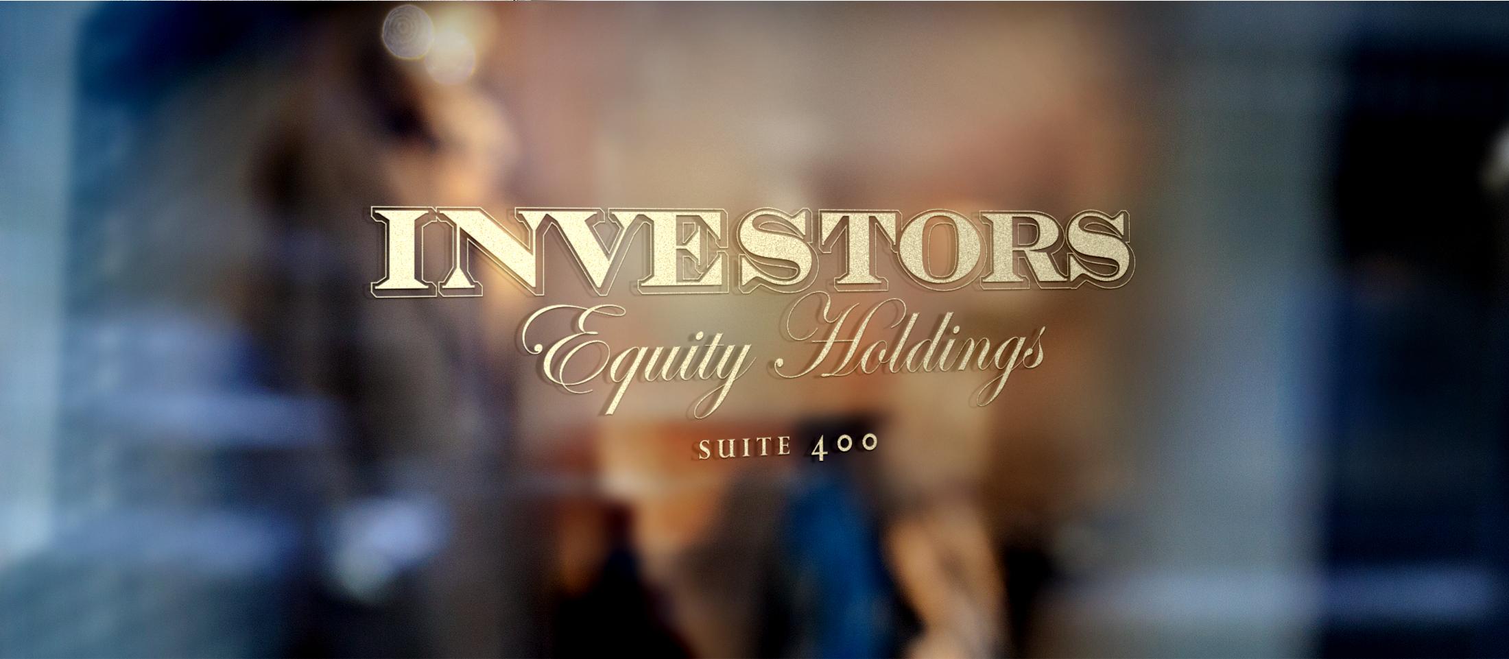Investors Equity Signage © Robertson Design