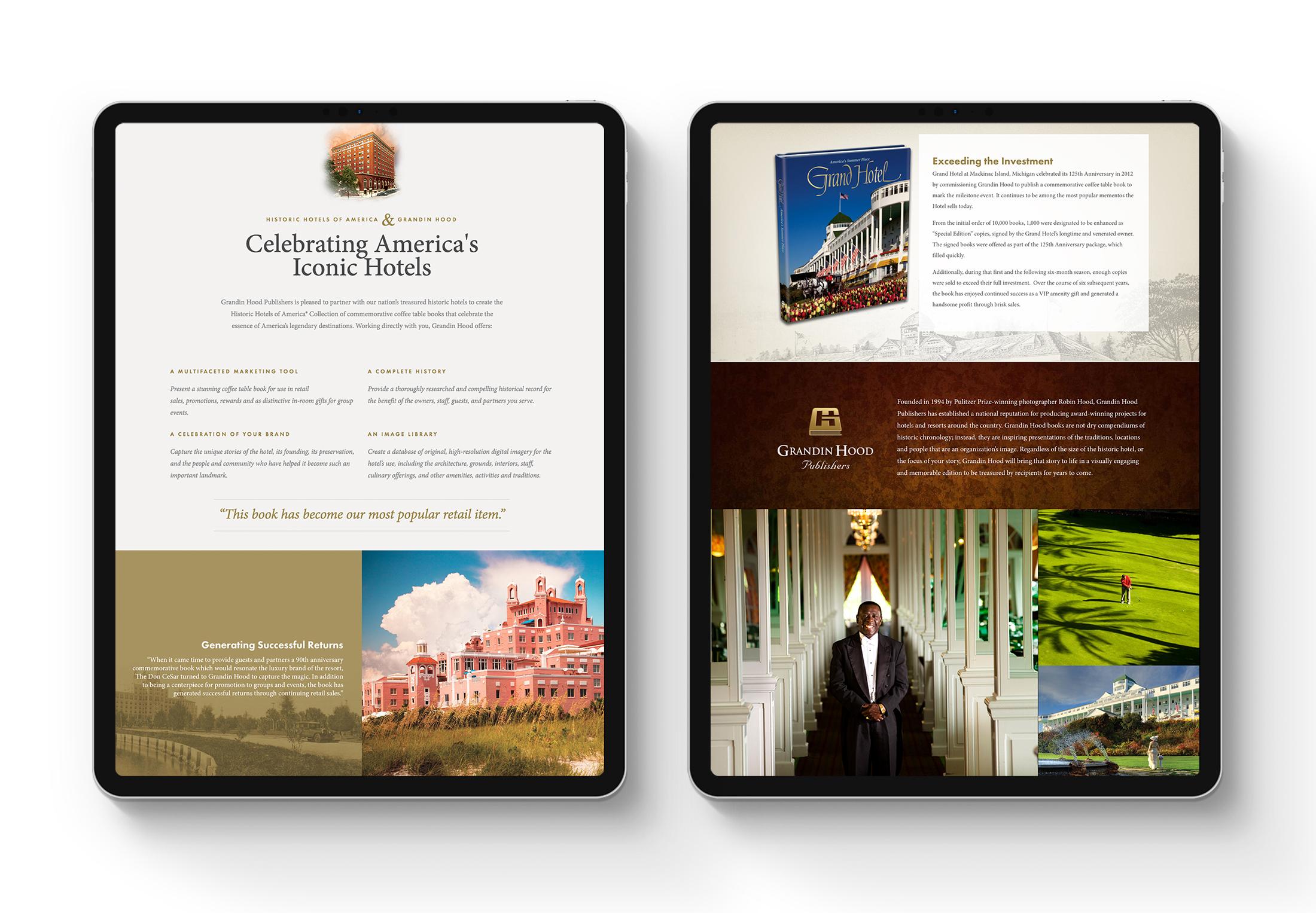 Grandin Hood web design © Robertson Design