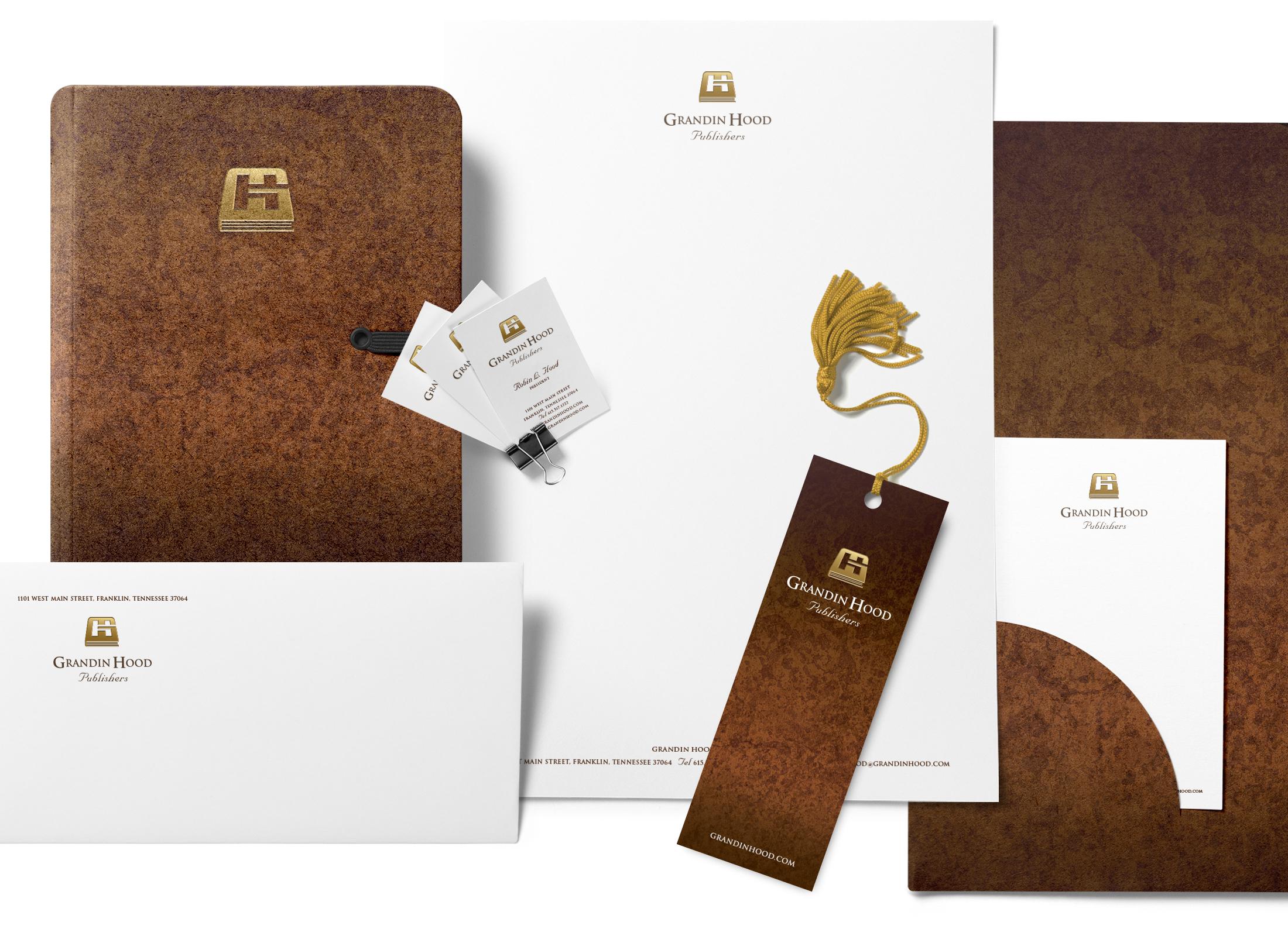 Grandin Hood Stationery © Robertson Design
