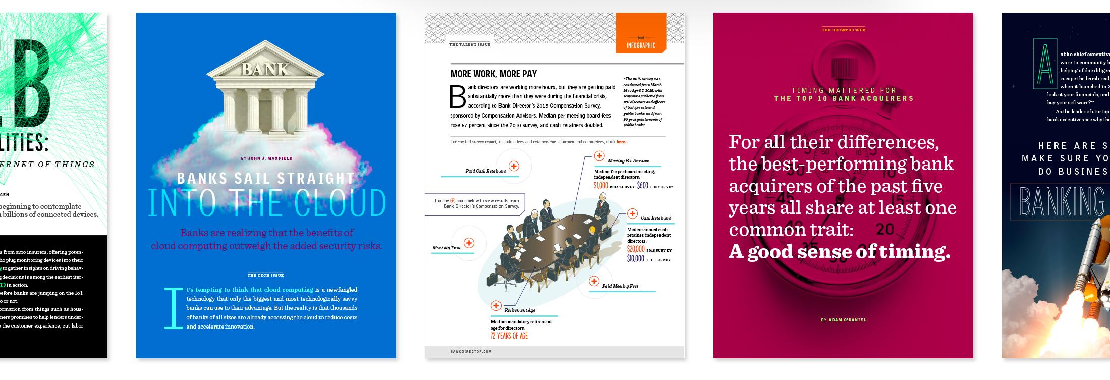 Bank Director Digital Magazine examples row 1 © Robertson Design