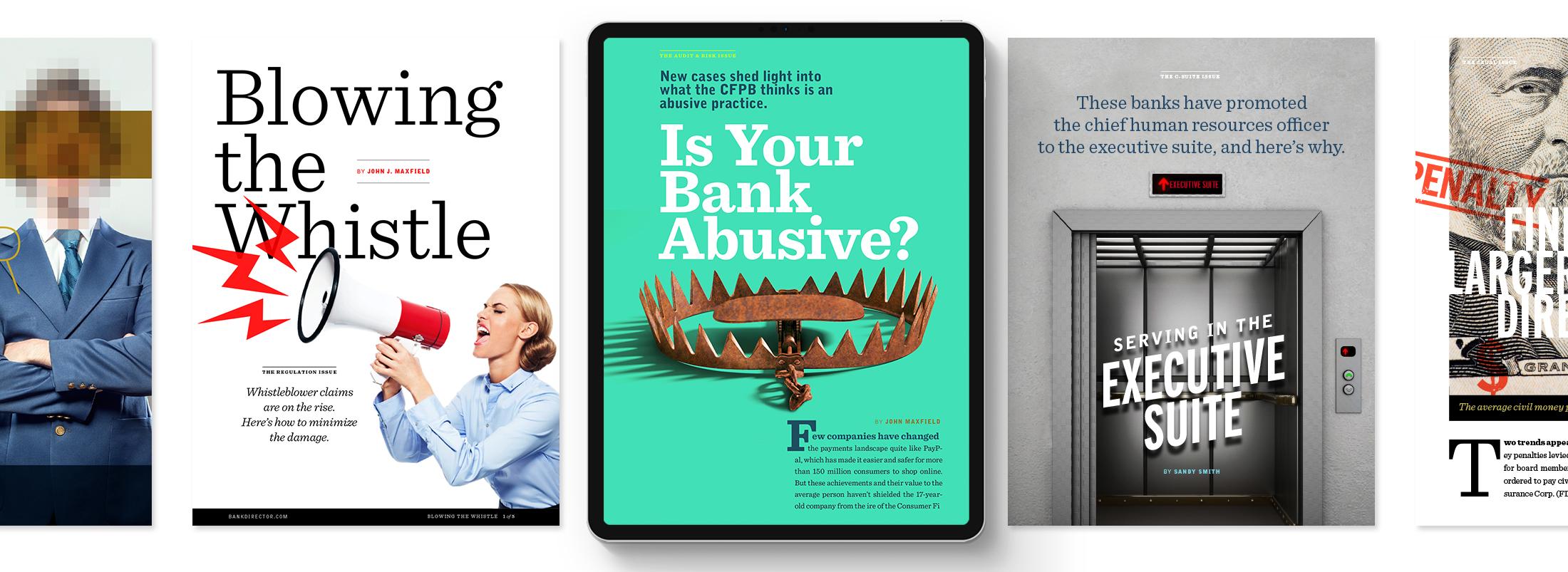 Bank Director Digital Magazine examples row 2 © Robertson Design